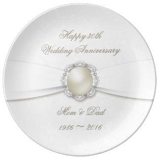 Trigésima placa de la porcelana del aniversario plato de porcelana