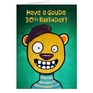Trigésima tarjeta de cumpleaños divertida para