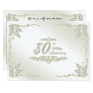 trigésimo Aniversario de boda RSVP Invitación 8,9 X 12,7 Cm