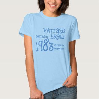 trigésimo Brew 1983 del vintage del regalo de Camisas
