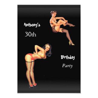 trigésimo Chicas del Pin-para arriba de la fiesta Invitación 12,7 X 17,8 Cm