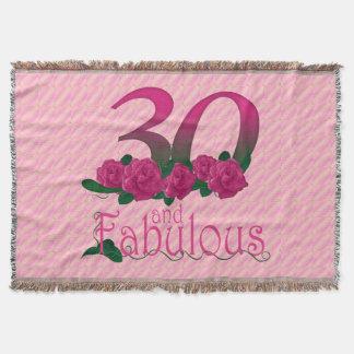 trigésimo cumpleaños 30 y manta rosada fabulosa de