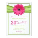 Trigésimo cumpleaños del Gerbera de la cinta Anuncio Personalizado