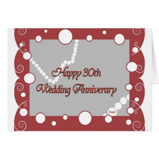 Trigésimo feliz. Aniversario de boda de la perla Felicitación