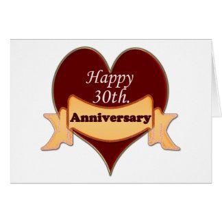 Trigésimo feliz. Aniversario Tarjeta De Felicitación