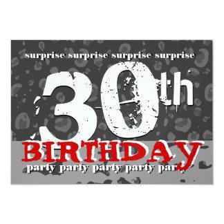 trigésimo Fiesta de cumpleaños de la SORPRESA Camo Invitación 12,7 X 17,8 Cm