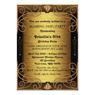 trigésimo, fiesta de cumpleaños, mujer, estilo de invitación 12,7 x 17,8 cm