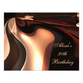 trigésimo Flujo del chocolate del arte abstracto d Invitacion Personal