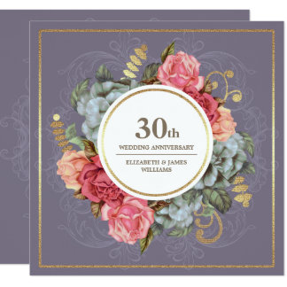 trigésimo Invitaciones de la fiesta de aniversario