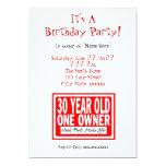 trigésimo Invitaciones de la fiesta de cumpleaños Invitacion Personal