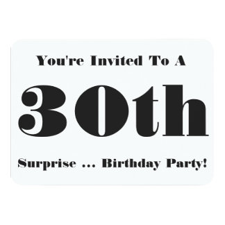 trigésimo La fiesta de cumpleaños de la sorpresa Comunicado Personalizado