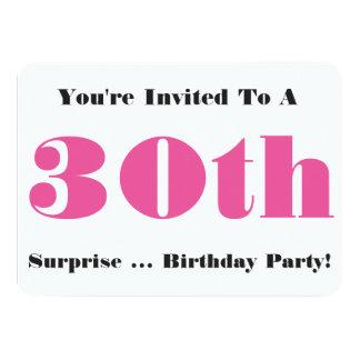 trigésimo La fiesta de cumpleaños de la sorpresa Anuncios