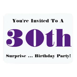 trigésimo La fiesta de cumpleaños de la sorpresa Comunicado Personal