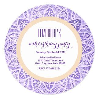 trigésimo Marco púrpura en colores pastel V10 del Invitación 13,3 Cm X 13,3cm