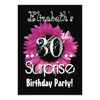 Trigésimo nombre del personalizado del cumpleaños invitación 12,7 x 17,8 cm