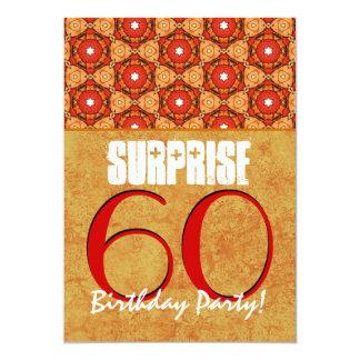 trigésimo Rojo del fiesta de sorpresa y plantilla Invitación 12,7 X 17,8 Cm