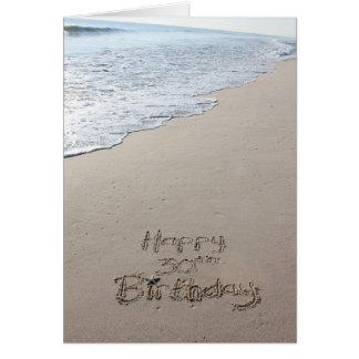 trigésimo Tarjeta de cumpleaños de la playa