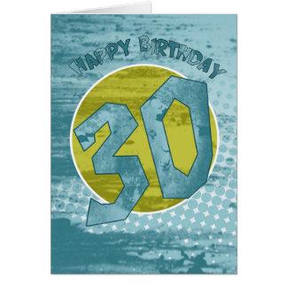 trigésimo Tarjeta de cumpleaños - tarjeta de cumpl
