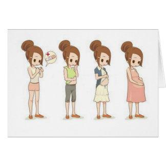 Trimestres del embarazo tarjeta de felicitación