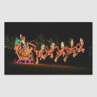 Trineo 2016 de Santa del navidad Pegatina Rectangular