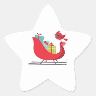 Trineo de Santas Calcomanías Forma De Estrellas