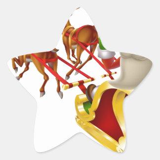 Trineo del navidad de Santa Calcomanías Forma De Estrella