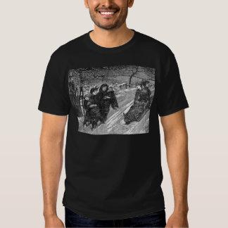 Trineo largo del navidad de la familia del camisetas