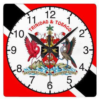 Trinidad and Tobago señalan por medio de una Reloj Cuadrado