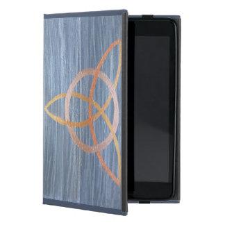 Trinidad metálica azul de Triquetra del oro iPad Mini Cárcasa