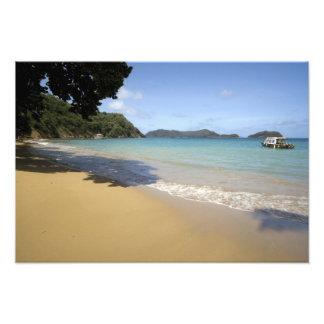 - Trinidad y Tobago - playa del Caribe a lo largo  Fotografía