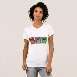 Trío de la camiseta colorida linda de los barros