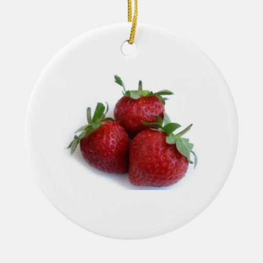 Trío de la fresa ornamentos de navidad