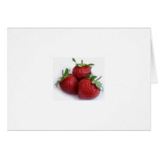 Trío de la fresa tarjeton