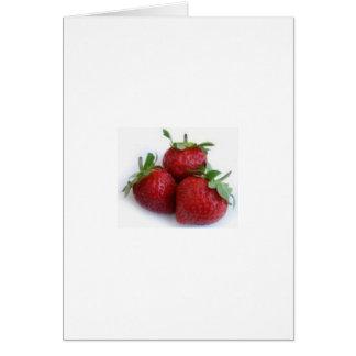 Trío de la fresa tarjeta de felicitación