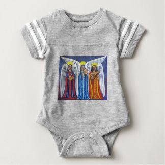 Trío de la música del ángel body para bebé
