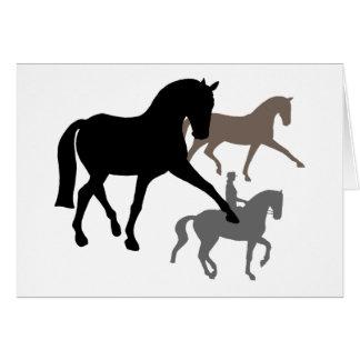 Trío de los caballos del Dressage Tarjeta