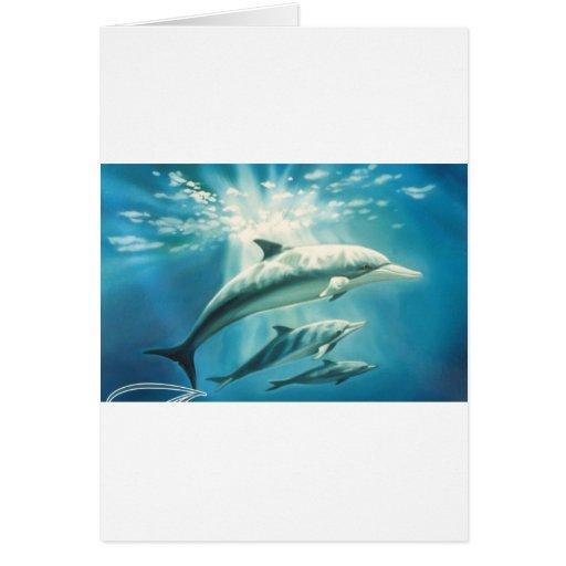 Trío del delfín felicitación