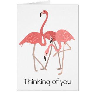 Trío del flamenco que piensa en usted tarjeta de felicitación