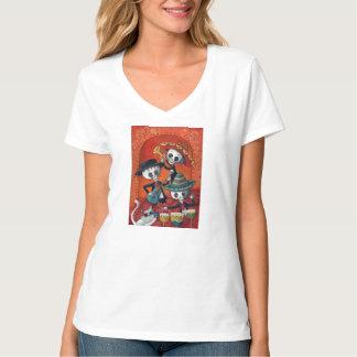 Trío del Mariachi de Dia de Los Muertos Skeleton Camiseta