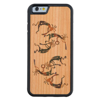 Trío del músico de KOKOPELLI + sus ideas Funda De iPhone 6 Bumper Cerezo