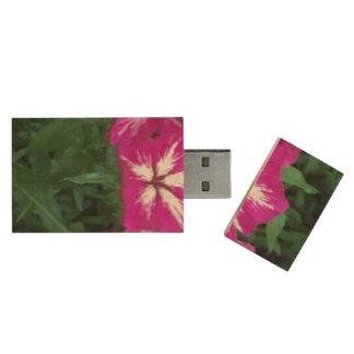 Trío del Phlox de las rosas fuertes Memoria USB De Madera