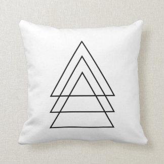 Trío mínimo de triángulos cojín decorativo