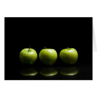 Trío verde de Apple Tarjeta De Felicitación
