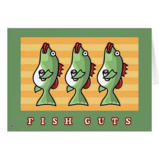 tripa de los pescados tarjeta de felicitación