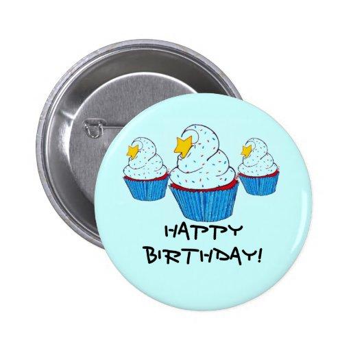 Triple cupcake Bday! Botón