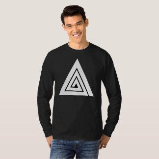 Triple - una manga larga negra camiseta