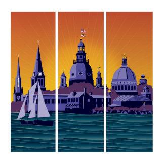 Tríptico Agujas y cúpulas de Annapolis