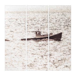 Tríptico Barco 1966 de la langosta de Maine