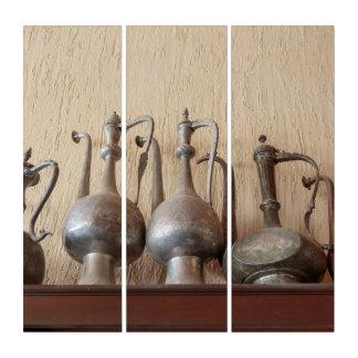 Tríptico Calderas grabadas antigüedad