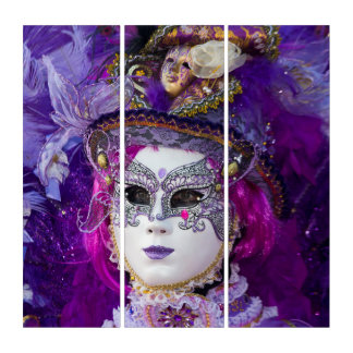 Tríptico Cara de un traje del carnaval, Venecia